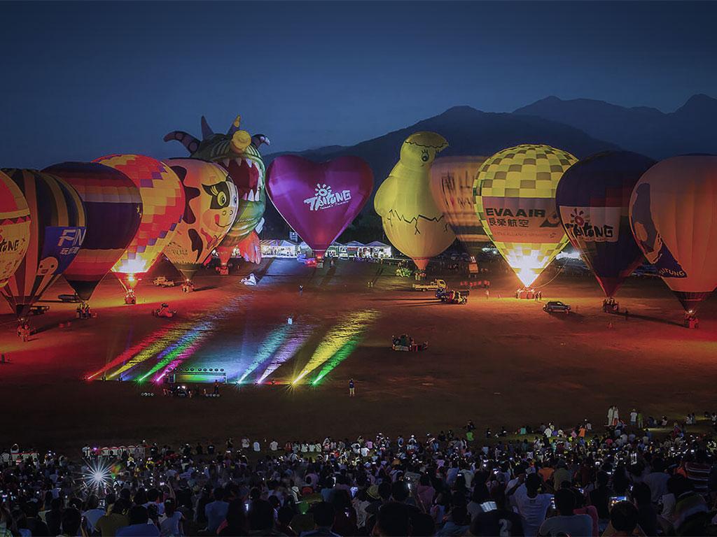 2020臺灣國際熱氣球嘉年華光雕場次表